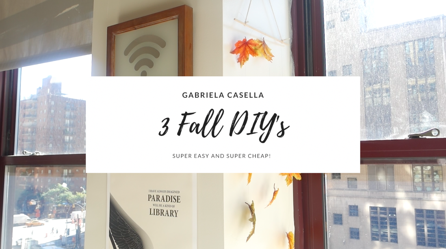 3 Fall DIY Room Decor Projects- SUPER easy and super inexpensive! VIDEO